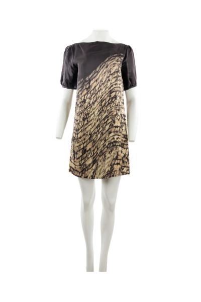 Pattern Asymmetric Print Shift Dress