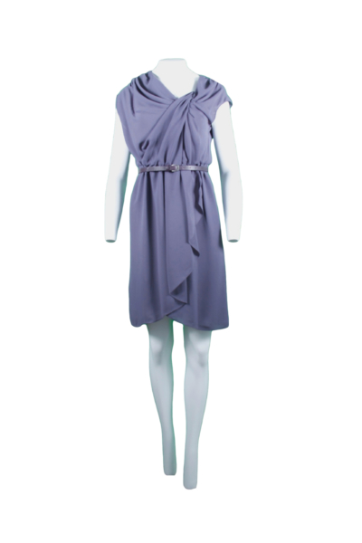 Plum Belted Sheath Dress