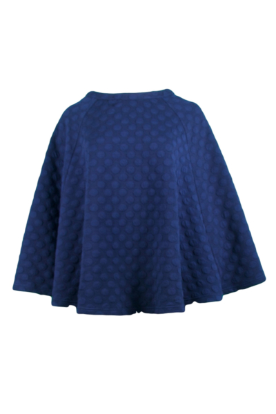 Navy Dotted Cape