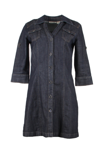Denim Button Down Shirt Dress