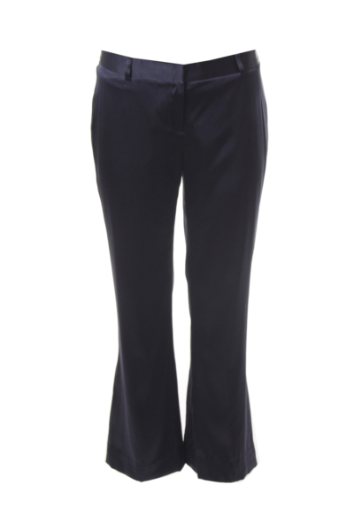 Navy Satin Pants