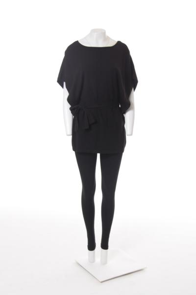 Black Bat Short Sleeve Sweater