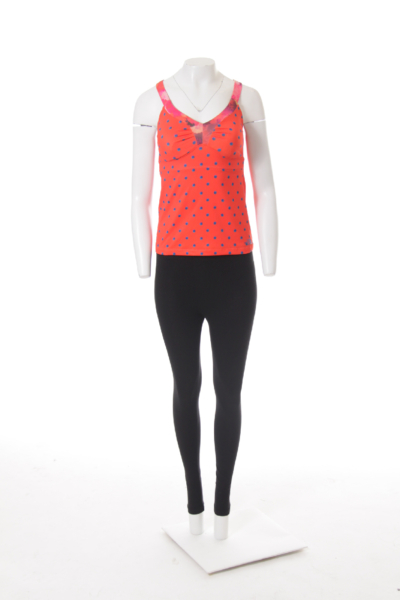 Orange Polka Dot Tank Top