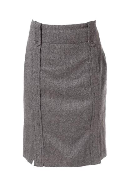 Black & White Fitted High Waist Skirt