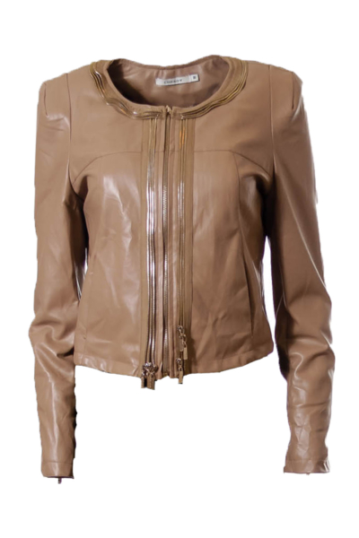 Brown Zipper Jacket