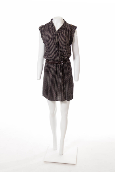 Black and Brown Pattern Dress
