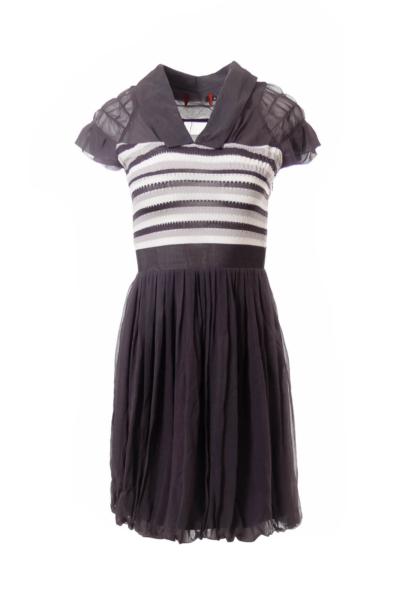 Gray Collar Dress