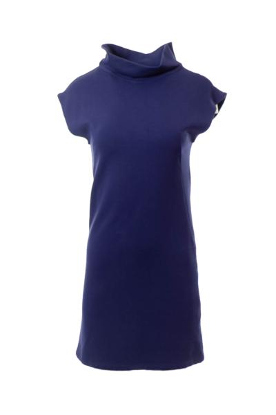 Blue Turtleneck Dress