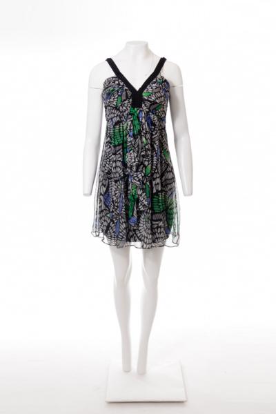 Leaf Print Sun Dress