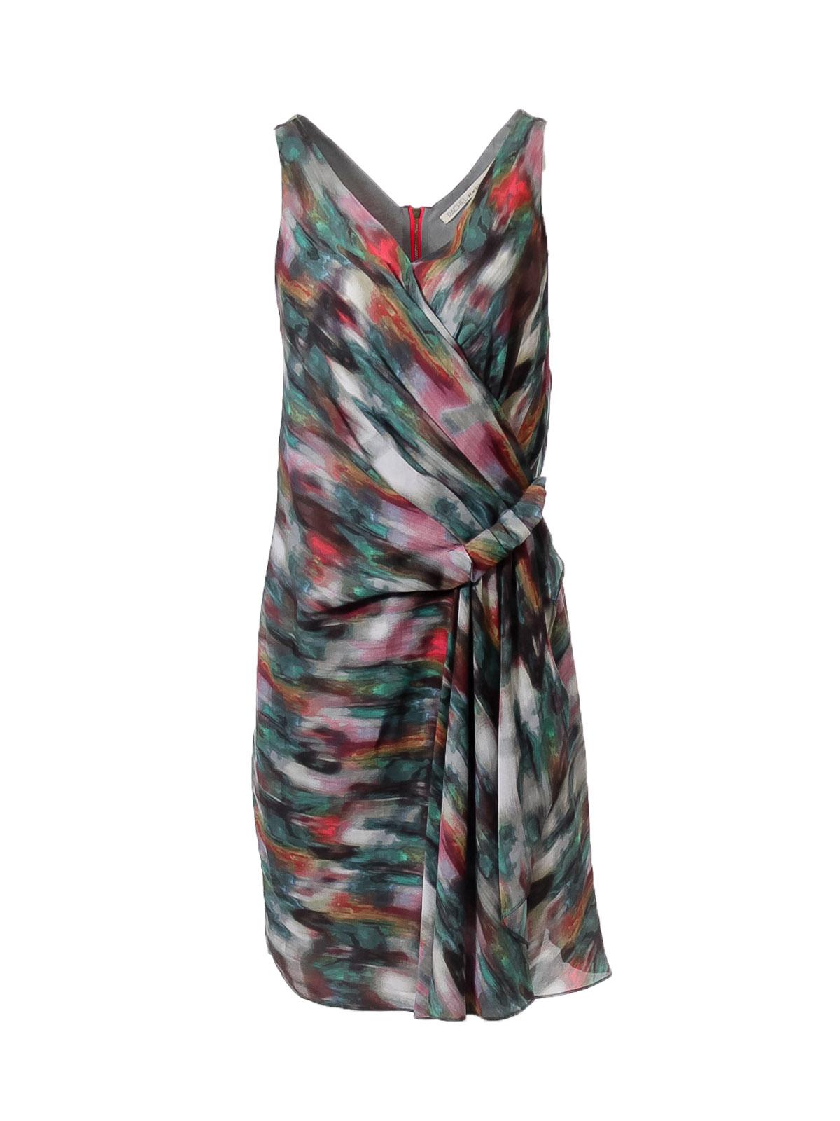 Paint Print Sleeveless Dress