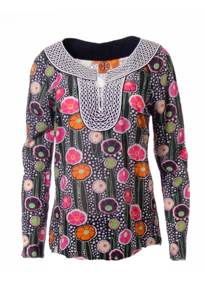 Flower Print Boho Blouse