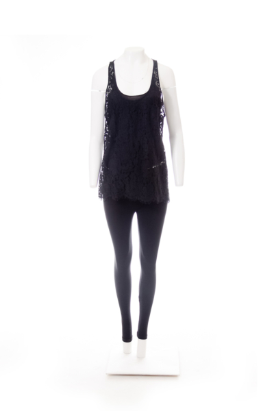 Black Cina Lace Tank Top