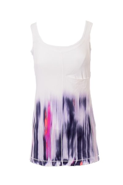 White & Purple Toned Nouveau Limits Tank