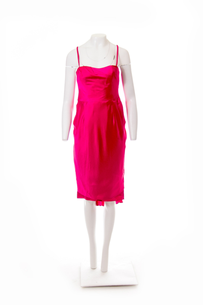Pink Silk Slip Dress
