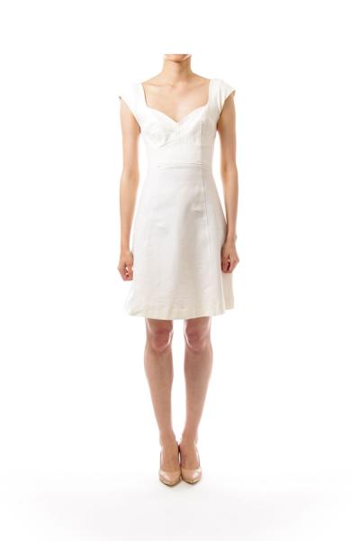 Cream A-line Dress