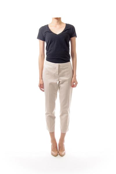 Cream Cropped Pants