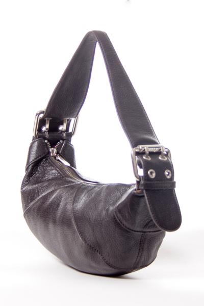 Brown Leather Mini Shoulder Bag