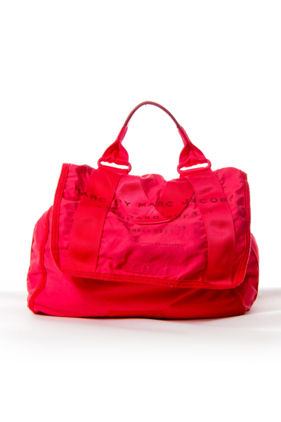Red Canvas Messenger Bag