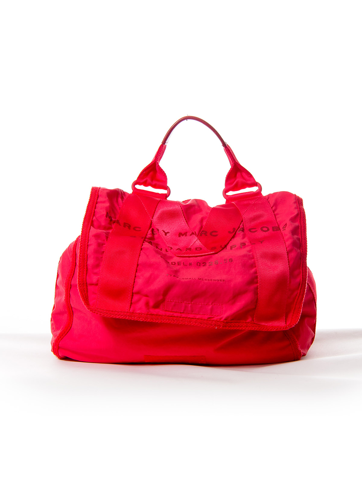 Red Canvas Messenger Bag