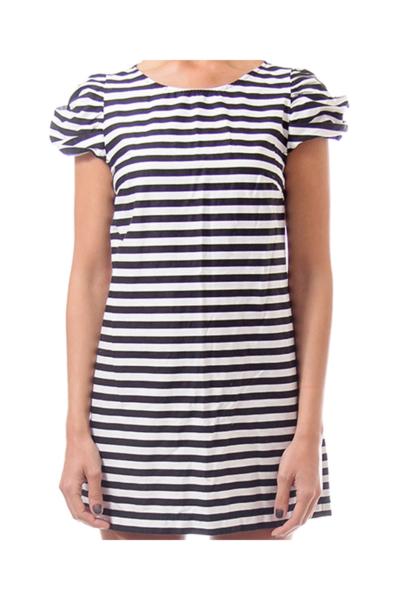 Black & White Stripe Mini Dress
