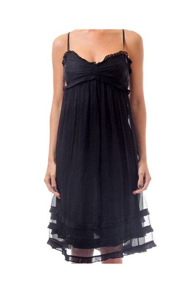 Black Chiffon Doll Dress
