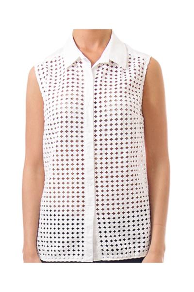 White Laser Cut Vest