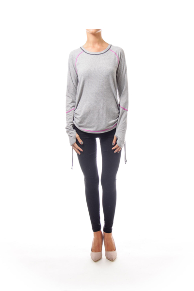 Grey & Black Stripped Sweater