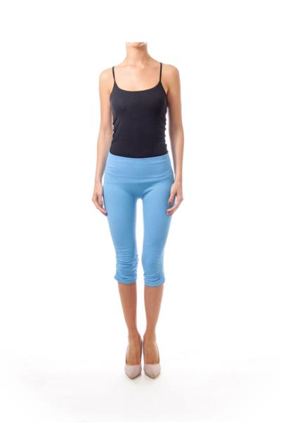 Blue Yoga Crop Pants