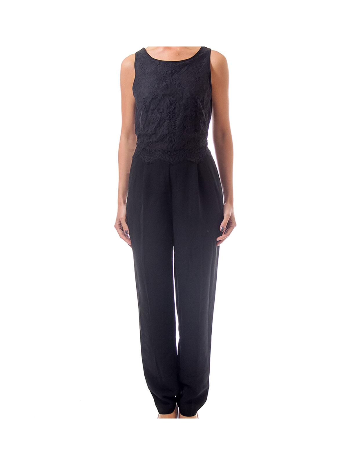 Black Jumpsuit with Lace Top