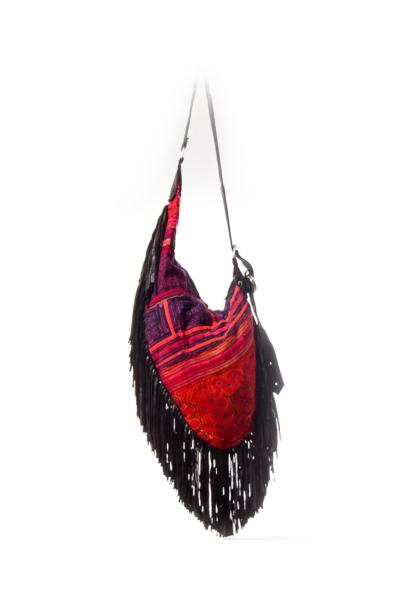 Boho Shoulder Bag with Tassles