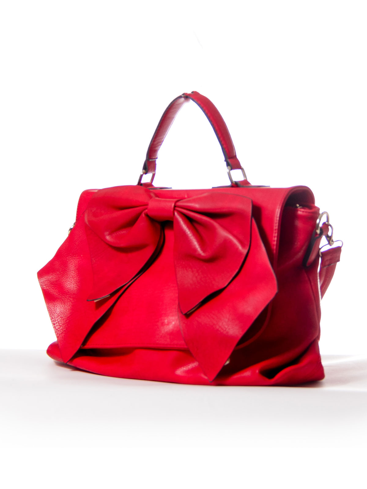 Red Bow Messenger Bag with Strap