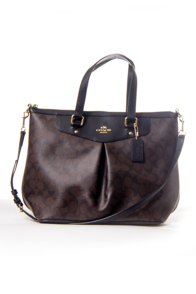 Brown Monogram Satchel with Strap