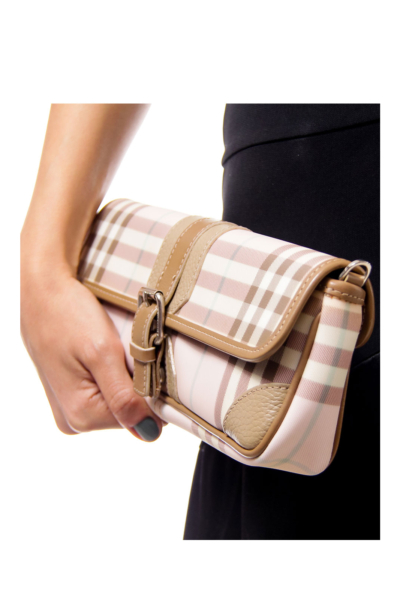 Burberry Pink Monogram Clutch