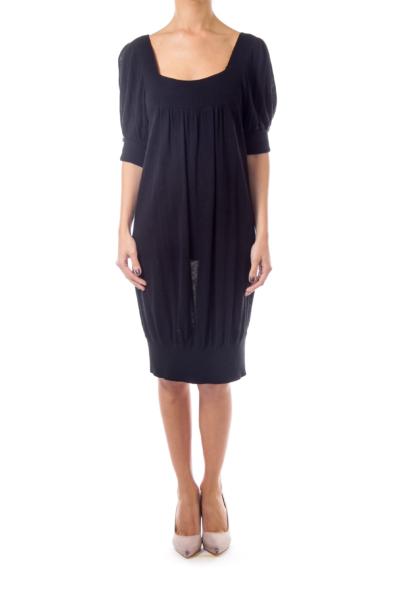 Black Loose Knit Dress