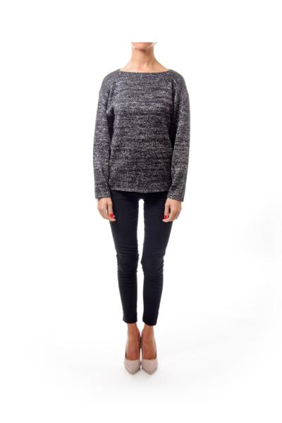 Black & Whitel Metalic Knit Sweater