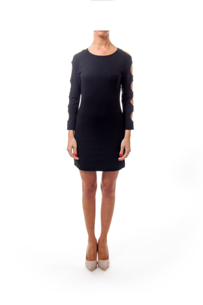 Black Cut Out Fitted Dress