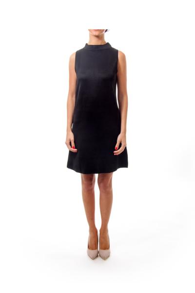 Black Turtle Neck Knit Dress
