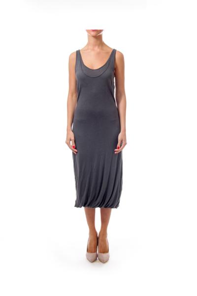 Gray Back Strap Jersey Dress