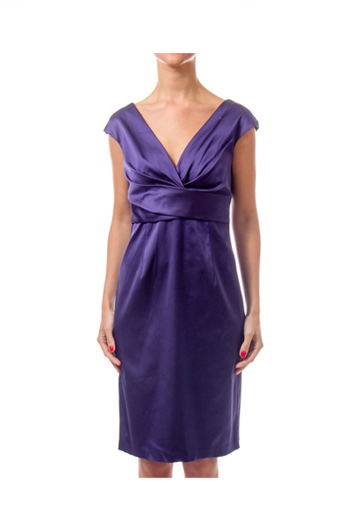 Purple Sleeveless V-Neck Dress