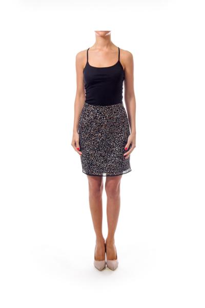 Black Sequined Skirt