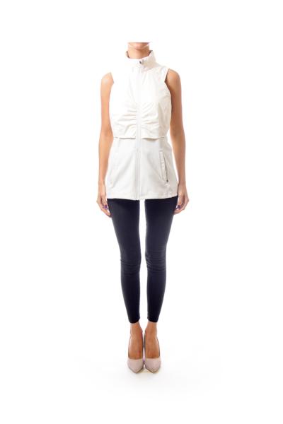 Cream Zip Vest