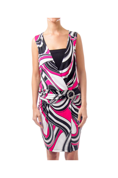 Pink & Black Pattern Dress