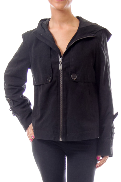 Black Zipup Coat