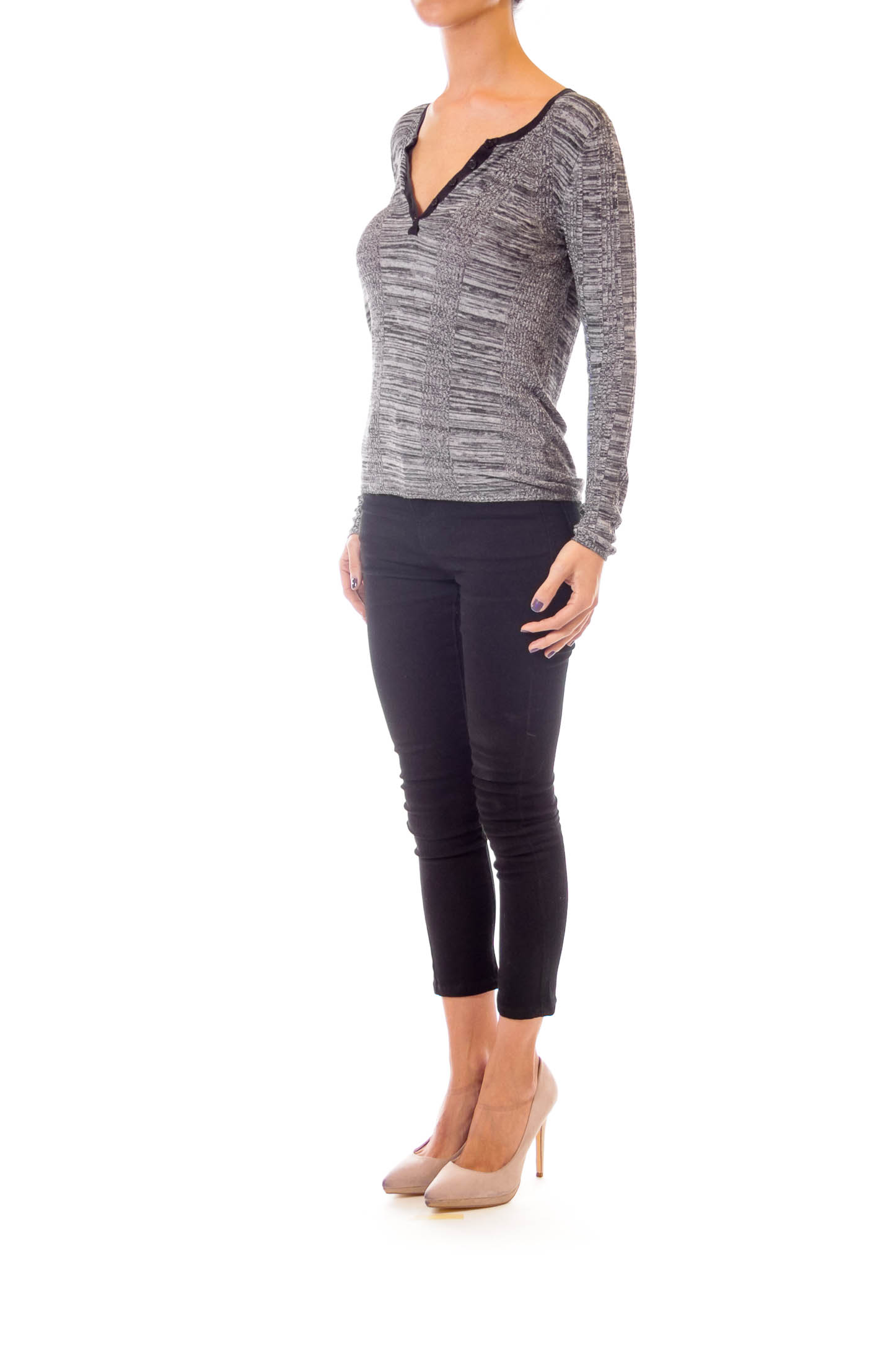 Gray Woven Sweater