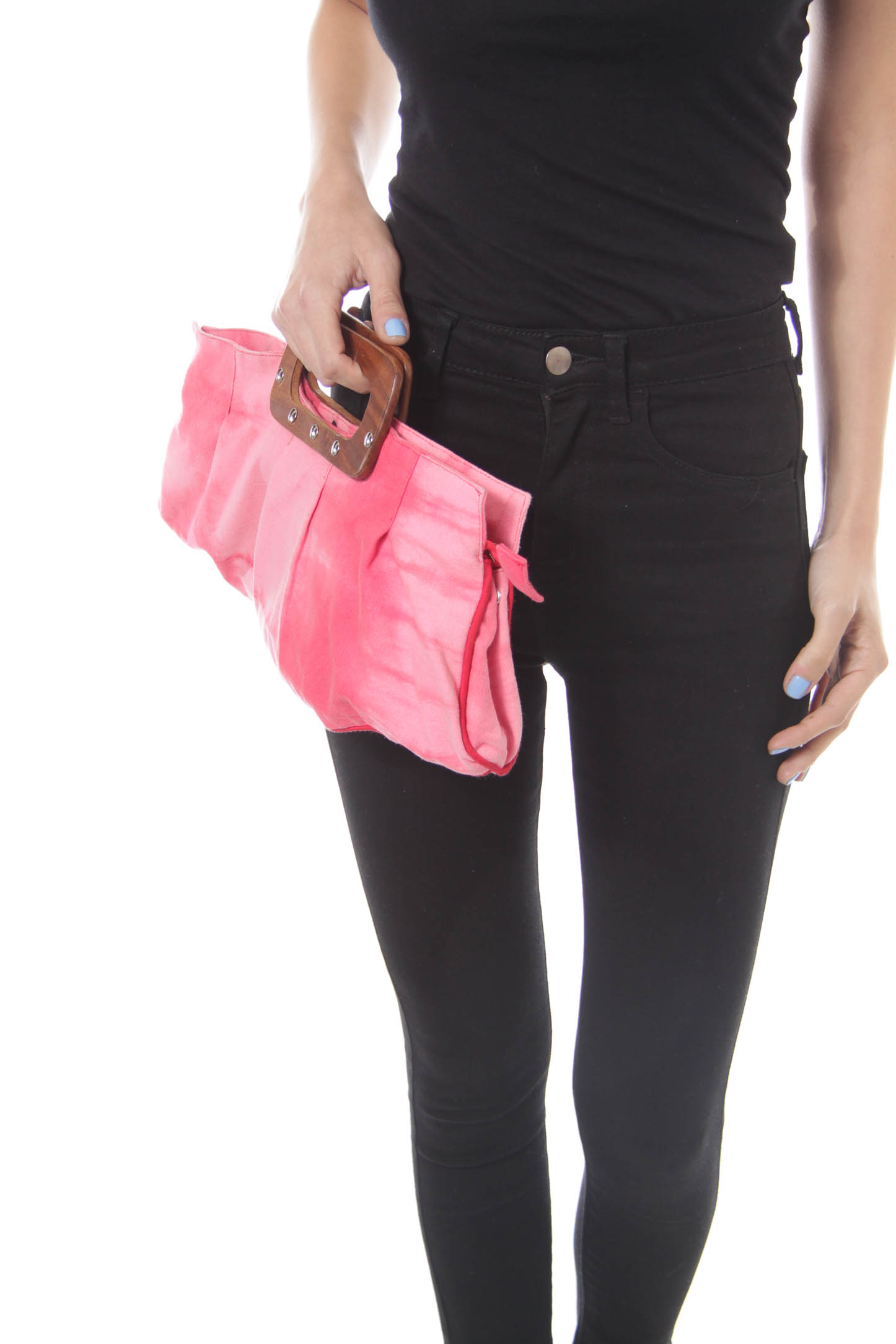 Pink Tie Dye Clutch with Handle