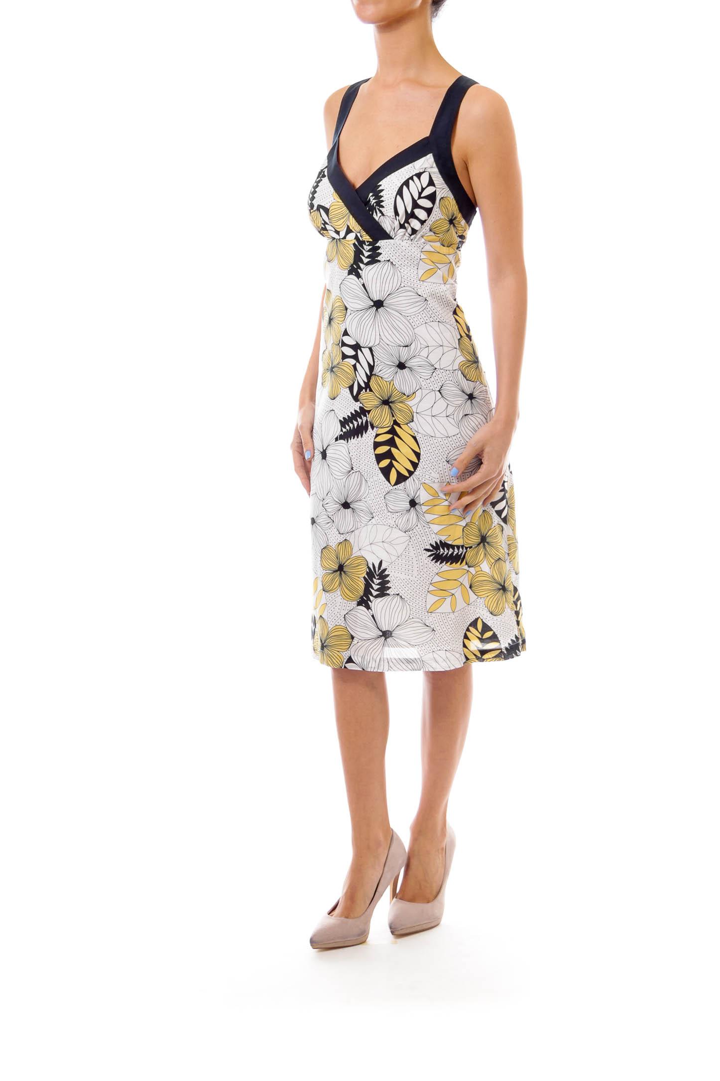 Black White & Yellow Sun Dress