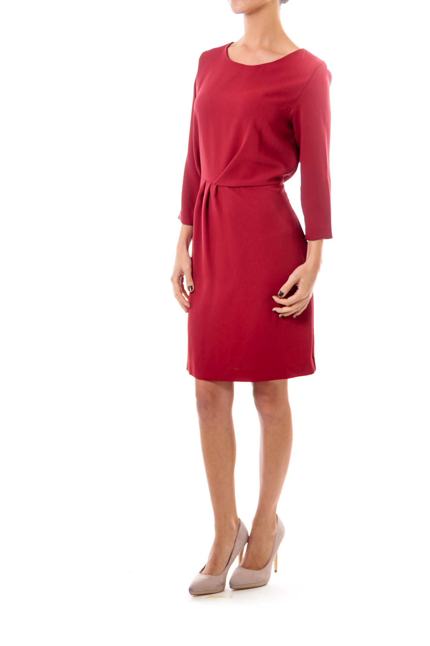 Maroon Sheath Dress
