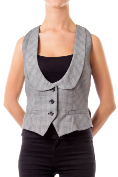 Gray Check Suit Vest