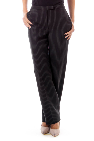 Black Stripe Straight Leg Pants