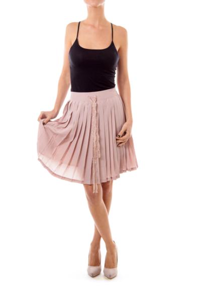 Dirty Beige Pleated Skirt